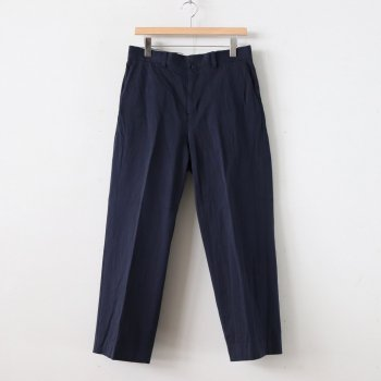 CHINO CLOTH PANTS CREASED #NAVY [10605] _ YAECA | ヤエカ