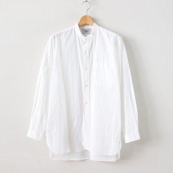 BUTTON SHIRT STAND COLLAR P/O LONG #WHITE [40107] _ YAECA | ヤエカ