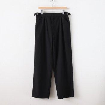 FINX HARD TWIST GABARDINE PANTS #BLACK [A20SP02FB] _ AURALEE | オーラリー