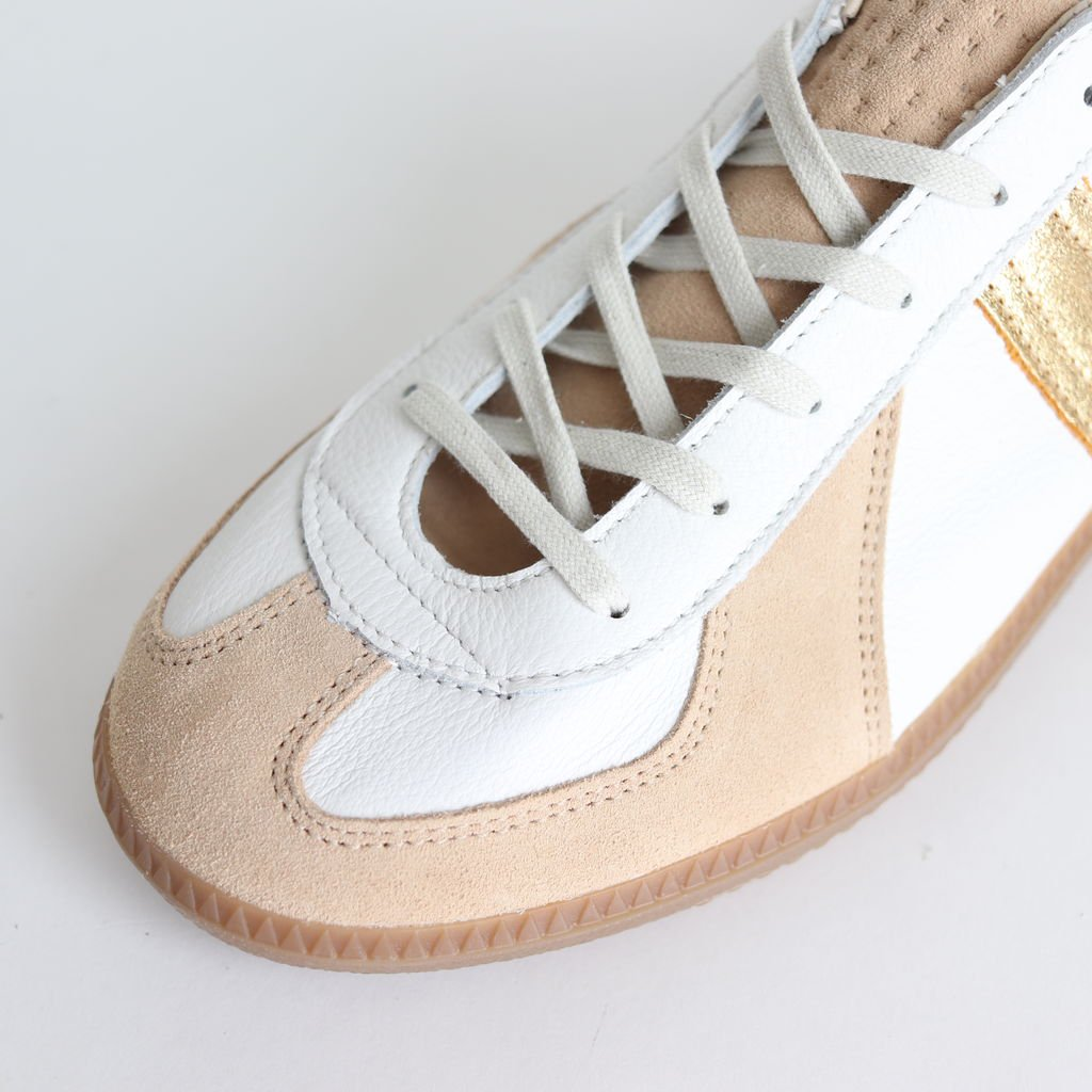 REPRODUCTION OF FOUND for Graphpaper GERMAN MILITARY TRAINER #WHT×GOLD [GU201-90173]