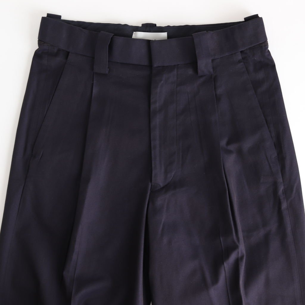 1TUCK EASY TAPERED PANTS #NAVY [YK20SS0086P]