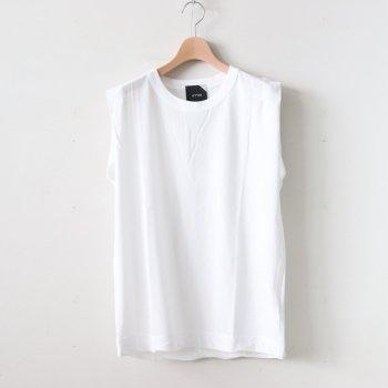 FRESCA TANK TOP #WHITE [KKAGBM0400] _ ATON | エイトン