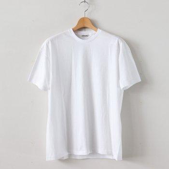 SEAMLESS CREW NECK TEE #WHITE [A00T01ST] _ AURALEE | オーラリー