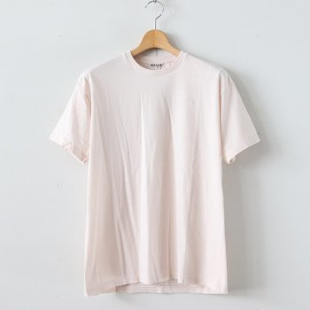 SEAMLESS CREW NECK TEE #LIGHT PINK [A00T01ST] _ AURALEE | オーラリー