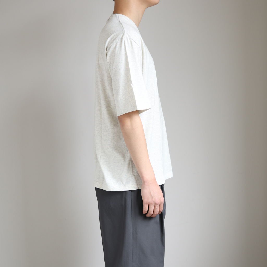 SEAMLESS CREW NECK HALF SLEEVE TEE #TOP GRAY [A20ST02ST]
