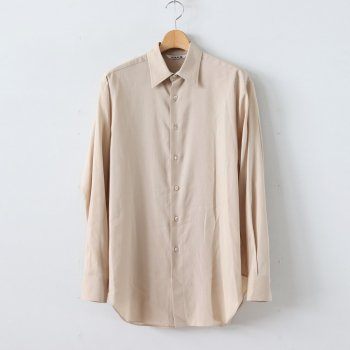 SHUTTLE GEORGETTE CLOTH SHIRTS #LIGHT BEIGE [A20SS02MG] _ AURALEE | オーラリー