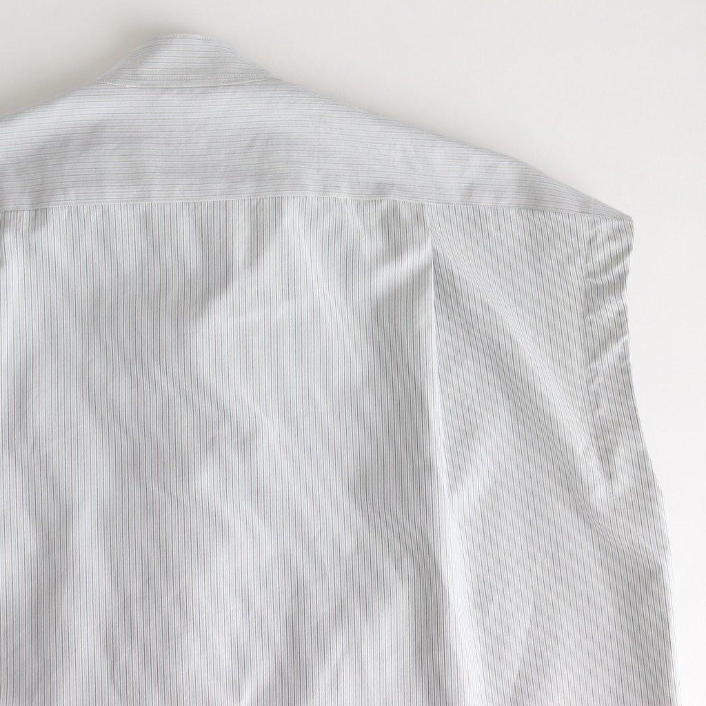 WASHED FINX TWILL STRIPE SLEEVELESS SHIRTS #NARROW STRIPE [A20SS04TS]