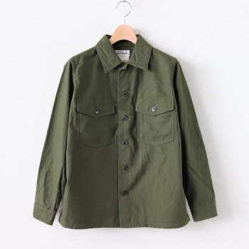 LIKE WEAR BAKER SHIRT #OLIVE(SATIN) [70101] _ YAECA | ヤエカ