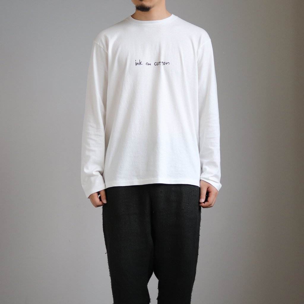 <img class='new_mark_img1' src='https://img.shop-pro.jp/img/new/icons1.gif' style='border:none;display:inline;margin:0px;padding:0px;width:auto;' />丸胴 PRINT T-SHIRTS L/S INK #WHITE(INK) [30017]