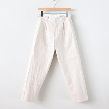 CHINO CLOTH PANTS TUCK TAPERED #BEIGE [60603] _ YAECA | ヤエカ