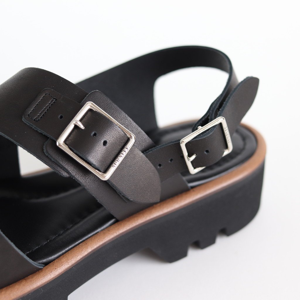 LEATHER BELT SANDALS MADE BY FOOT THE COACHER #BLACK [A20SS02FC]