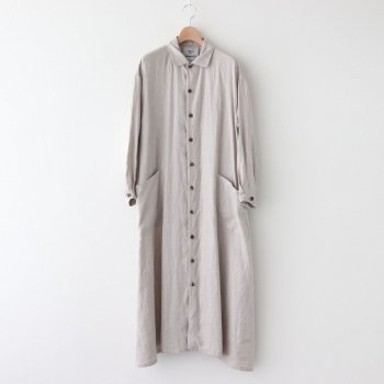 WORK SHIRT DRESS #NATURAL [90540] _ YAECA   ヤエカ