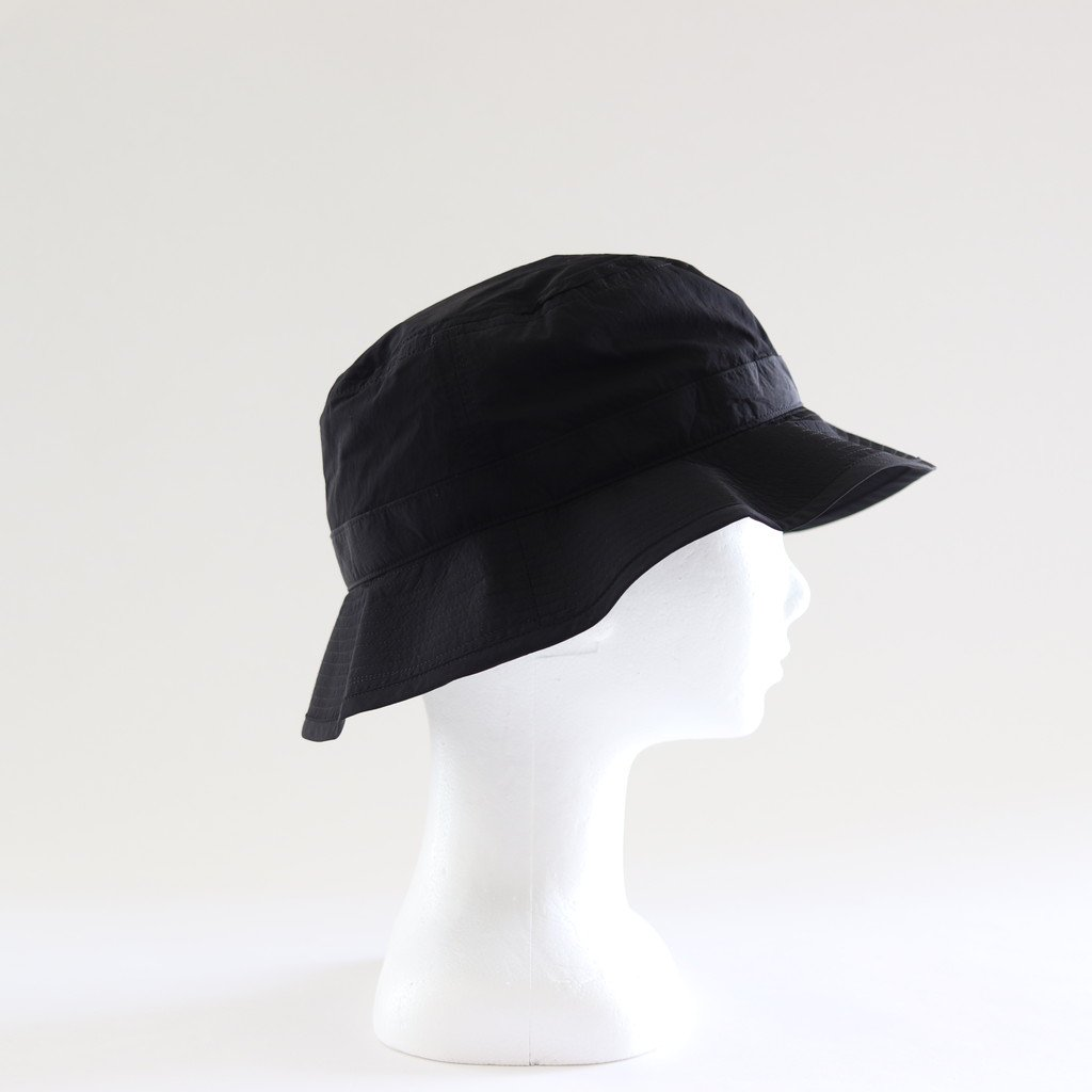 LIGHT NYLON BUCKET HAT #BLACK [NO.17630]