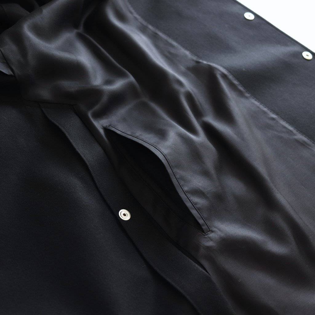 BAL COLLAR PONCHO WOOL100% - SERGE FLANNEL #BLACK [20AW-CKCT-014]