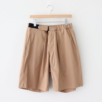STRETCH TYPEWRITER WIDE TUCK CHEF SHORTS #BEIGE [GM202-40616B] _ Graphpaper | グラフペーパー