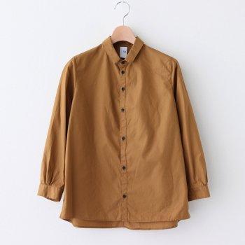 NCCSH コットン100/2コーマ高密ブロード スモールカラーセミワイドシャツ #WALNUT [A0_NC011SF] _ NO CONTROL AIR   ノーコントロールエアー
