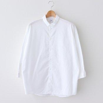 NOVSH|コットン100/2コーマ高密ブロード スモールカラーワイドシャツ #OFF WHITE [A0_NC017SF] _ NO CONTROL AIR | ノーコントロールエアー