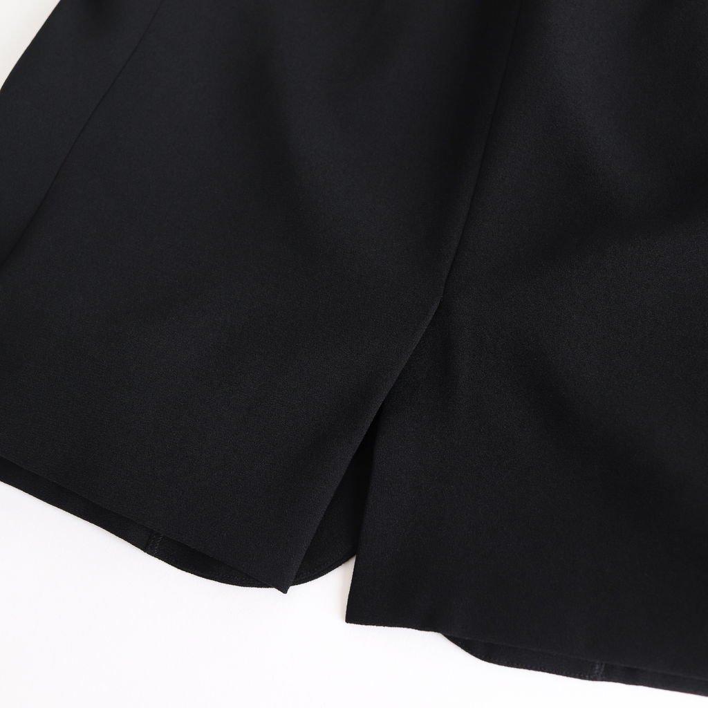 NNCJK|アセテート&ポリエステルライトクレープダブルクロス ノーカラージャケット #BLACK [NK_NC901JK]