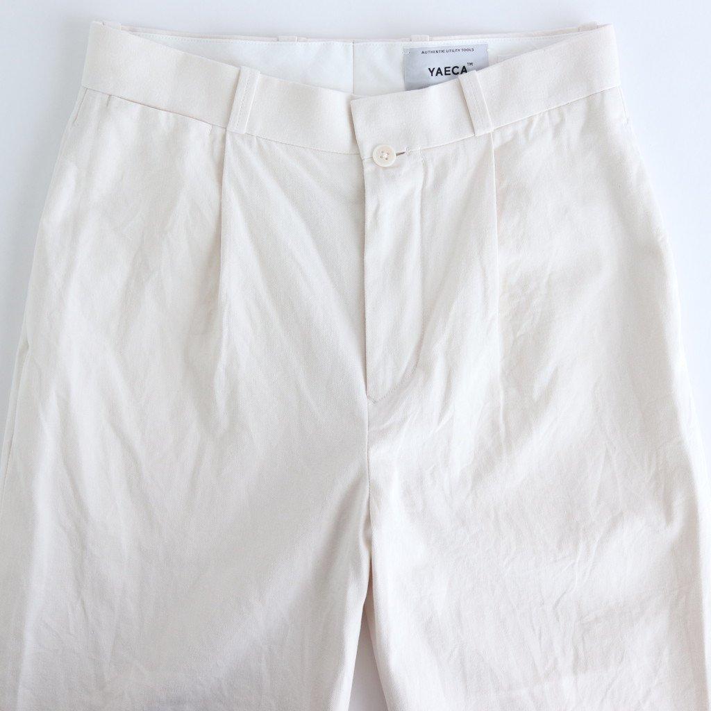CHINO CLOTH PANTS TUCK STRAIGHT #WHITE [60604]