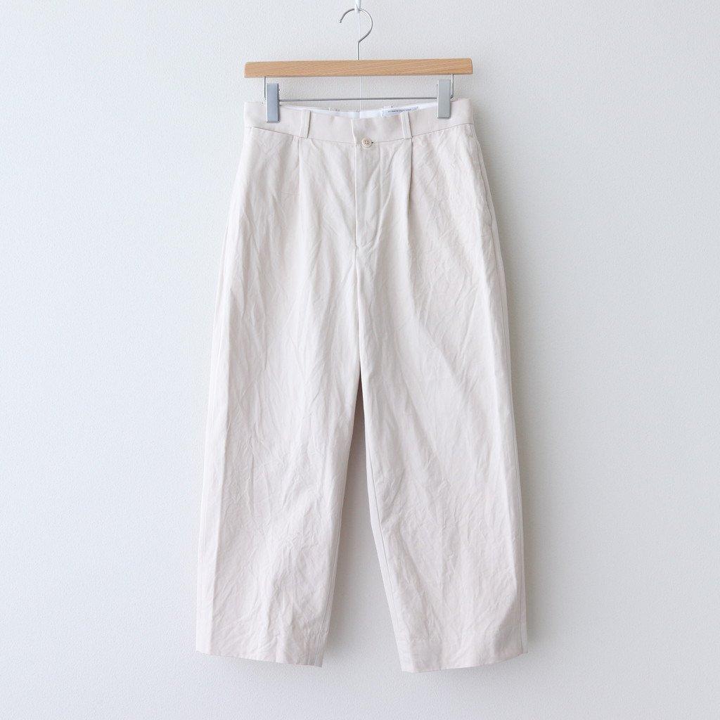 CHINO CLOTH PANTS TUCK STRAIGHT #BEIGE [60604]