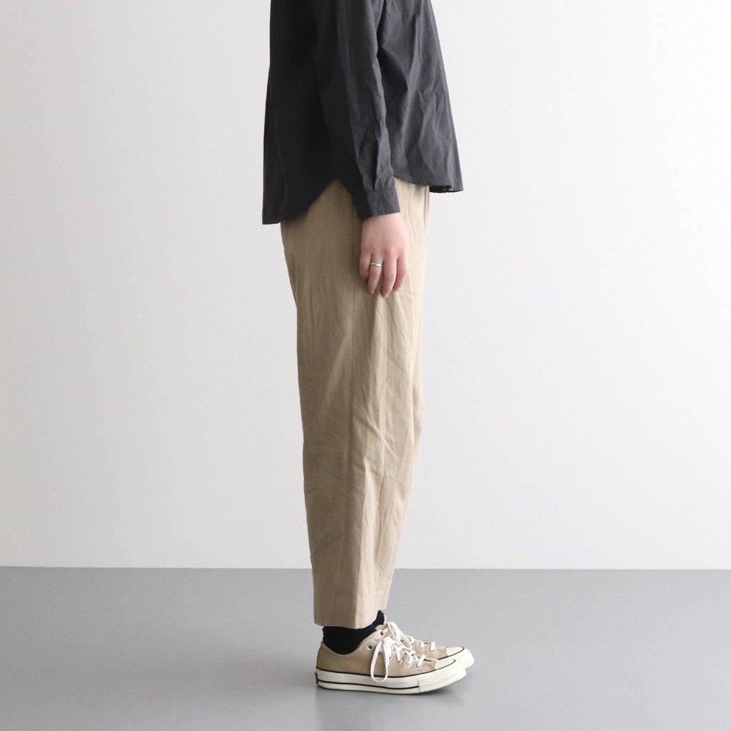 CHINO CLOTH PANTS TUCK STRAIGHT #KHAKI [60604]