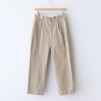 CHINO CLOTH PANTS TUCK STRAIGHT #KHAKI [60604] _ YAECA | ヤエカ