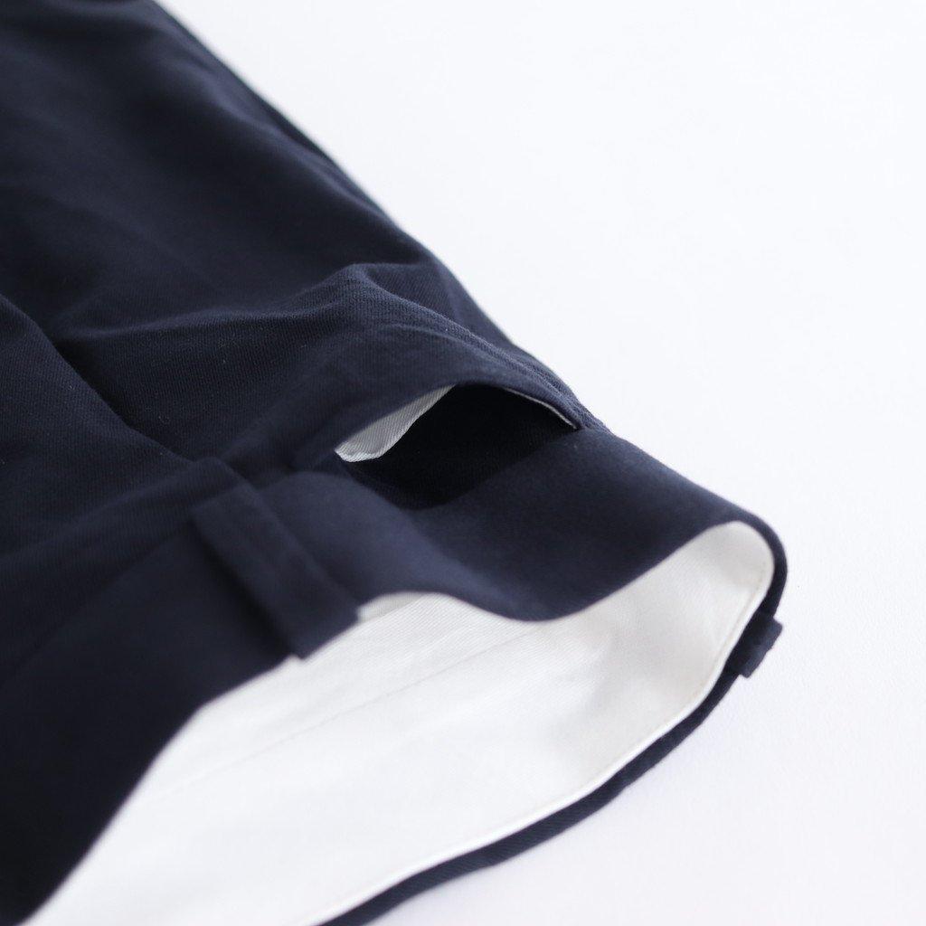 CHINO CLOTH PANTS TUCK STRAIGHT #NAVY [60604]
