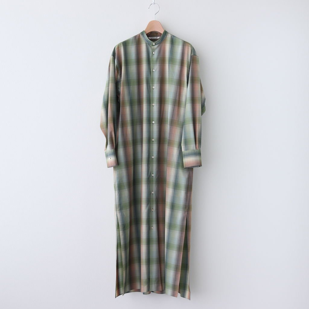 SUPER LIGHT WOOL CHECK MAXI ONE-PIECE #GREEN CHECK [A20AD02LC]