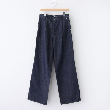 HARD TWIST DENIM WIDE SLACKS #INDIGO [A20AP02DM] _ AURALEE | オーラリー