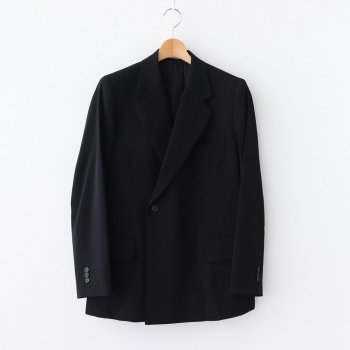 WOOL MAX GABARDINE DOUBLE-BREASTED JACKET #BLACK [A20AJ01MG] _ AURALEE | オーラリー
