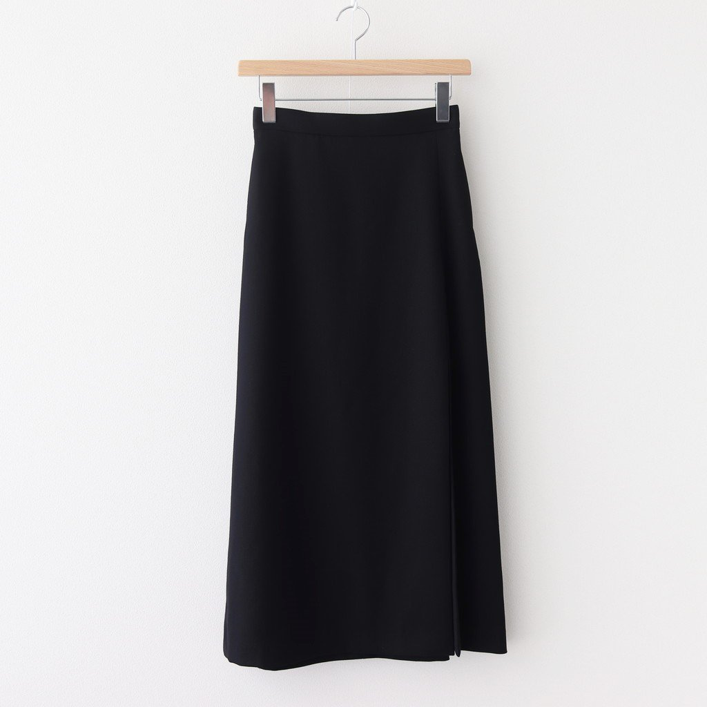 <img class='new_mark_img1' src='https://img.shop-pro.jp/img/new/icons1.gif' style='border:none;display:inline;margin:0px;padding:0px;width:auto;' />WOOL MAX SERGE SKIRT #BLACK [A20AS03MS]