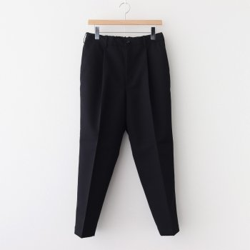 SELVAGE WOOL TAPERED SLACKS #BLACK [GM203-40107B] _ Graphpaper | グラフペーパー