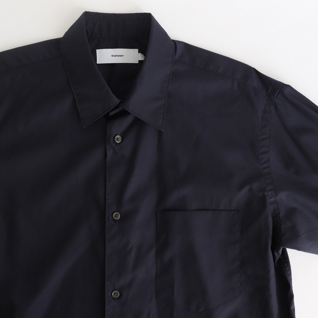 <img class='new_mark_img1' src='https://img.shop-pro.jp/img/new/icons1.gif' style='border:none;display:inline;margin:0px;padding:0px;width:auto;' />BROAD L/S REGULAR COLLAR SHIRT #NAVY [GM203-50108B]