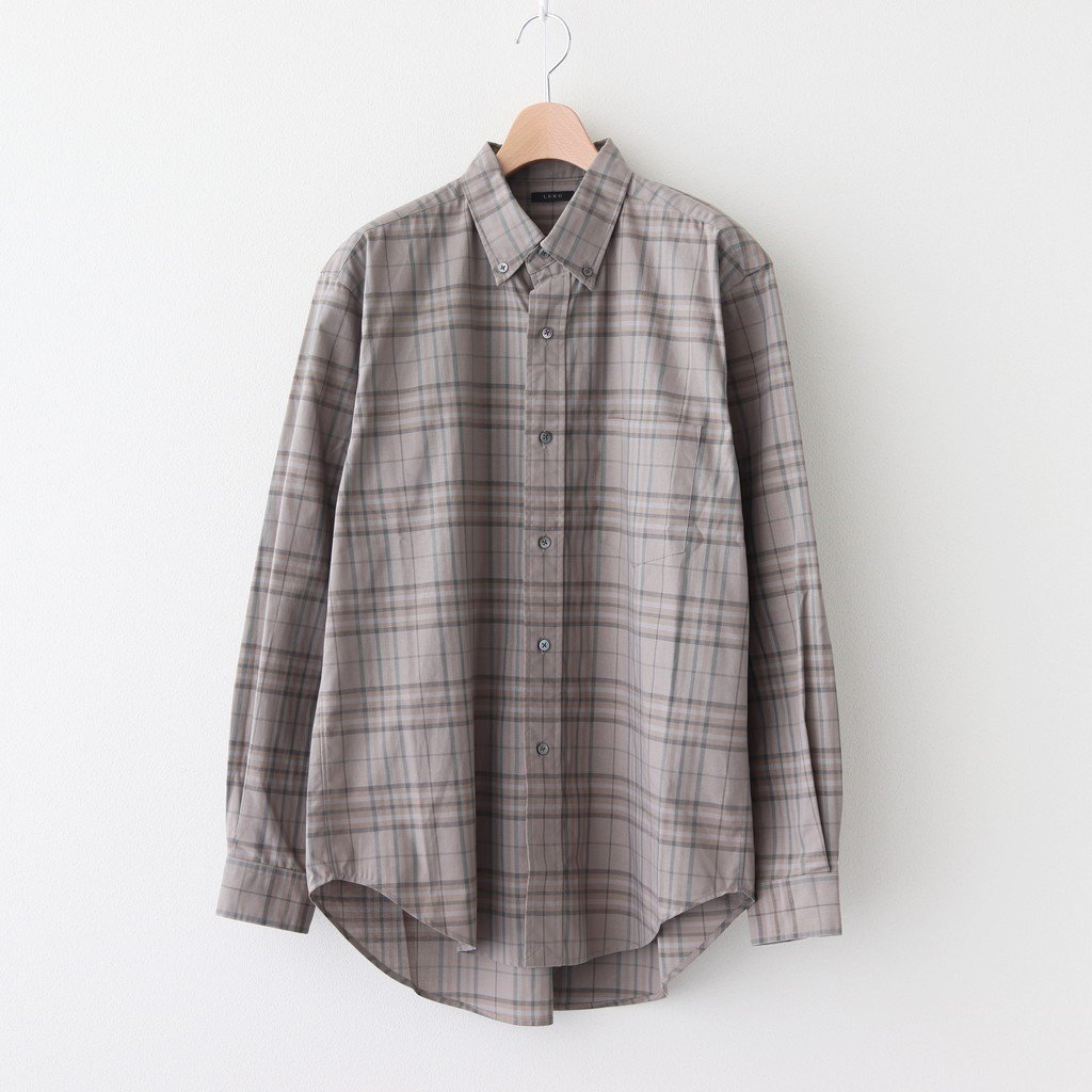 <img class='new_mark_img1' src='https://img.shop-pro.jp/img/new/icons1.gif' style='border:none;display:inline;margin:0px;padding:0px;width:auto;' />BUTTON-DOWN SHIRT #KHAKI CHECK [H2002-SH001]