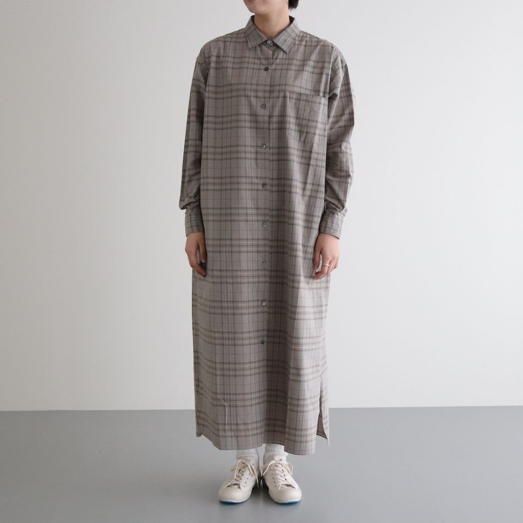 <img class='new_mark_img1' src='https://img.shop-pro.jp/img/new/icons1.gif' style='border:none;display:inline;margin:0px;padding:0px;width:auto;' />OPEN-FRONT DRESS #KHAKI CHECK [L2002-DR001]