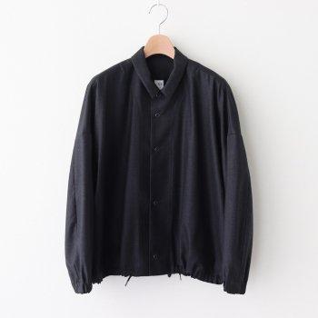 NCHSH|2/95Super140'sウールサージ コーチワイドシャツ #DARK GREY TOP [A0_NC082SF] _ NO CONTROL AIR | ノーコントロールエアー