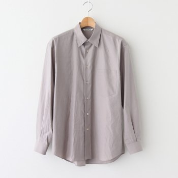 WASHED FINX TWILL SHIRTS #LIGHT BROWN [A20AS01TN] _ AURALEE | オーラリー