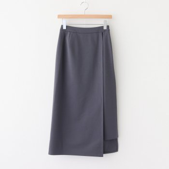 COMPACT PONTE WRAP SKIRT #C.GRAY [GL203-40035B] _ Graphpaper | グラフペーパー