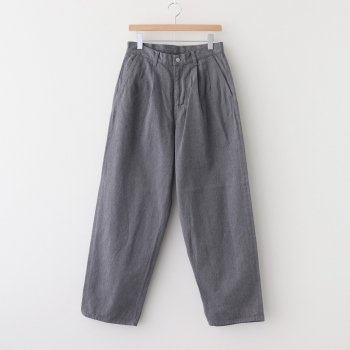 COLORFAST DENIM TWO TUCK PANTS #GRAY [GM203-40093B] _ Graphpaper | グラフペーパー
