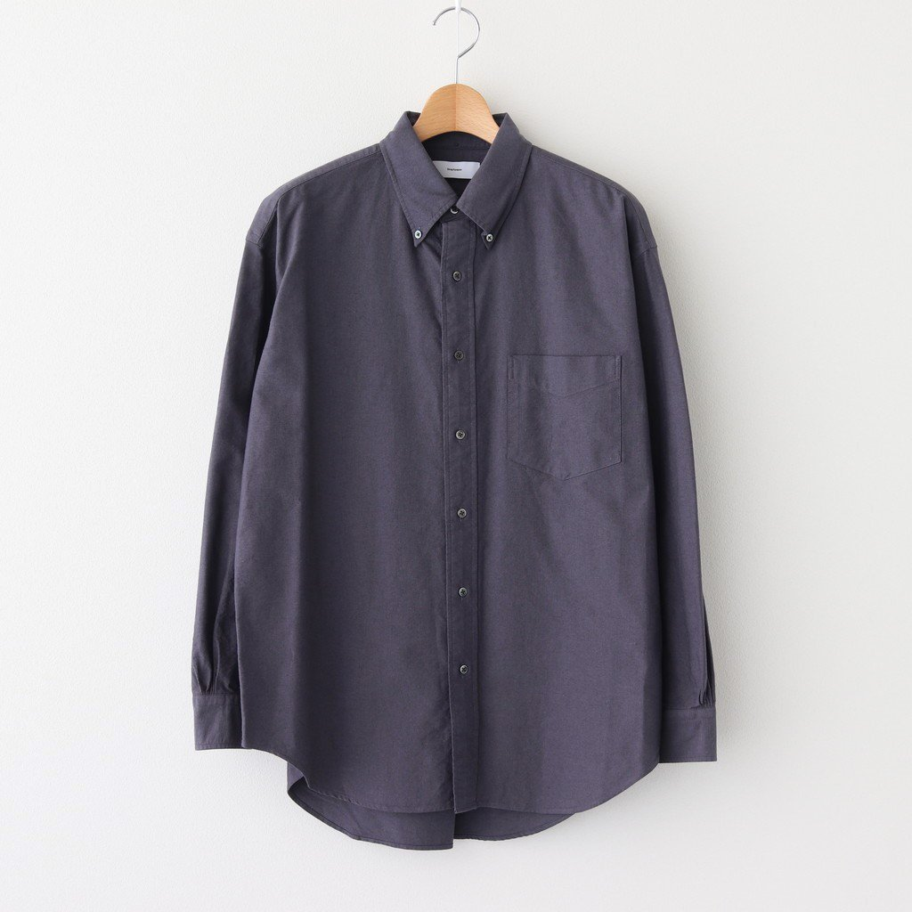 <img class='new_mark_img1' src='https://img.shop-pro.jp/img/new/icons1.gif' style='border:none;display:inline;margin:0px;padding:0px;width:auto;' />OXFORD L/S B.D BOX SHIRT #GRAY [GM203-50112B]