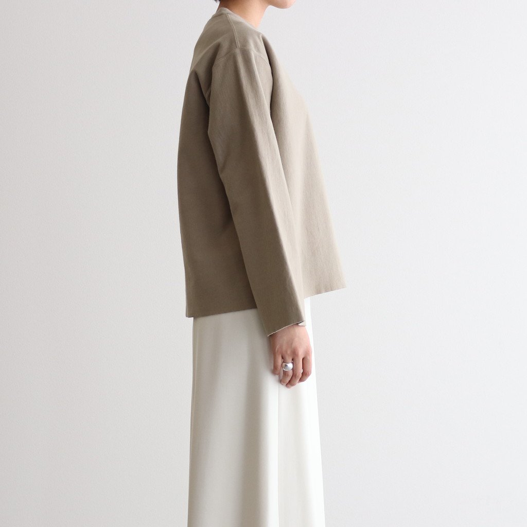 <img class='new_mark_img1' src='https://img.shop-pro.jp/img/new/icons1.gif' style='border:none;display:inline;margin:0px;padding:0px;width:auto;' />SUPER MILLED SWEAT CUT-OFF P/O #KHAKI GRAY [A20AP05SM]