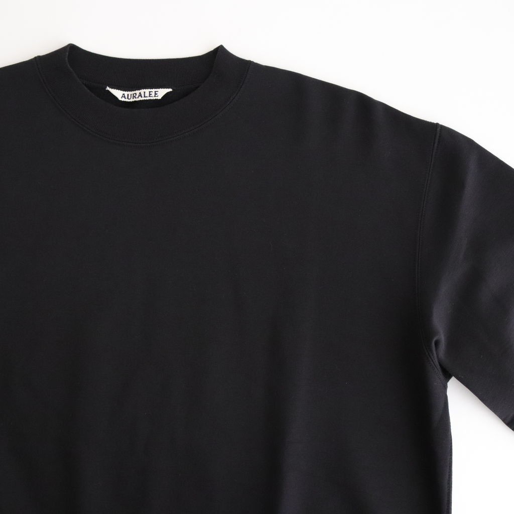 ELASTIC HIGH GAUGE SWEAT P/O #BLACK [A20AP03NU]