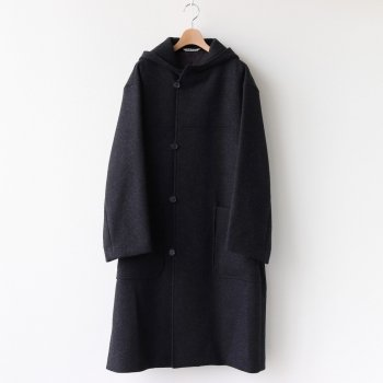 LIGHT MELTON HOODED COAT #TOP CHARCOAL [A20AC03LM] _ AURALEE | オーラリー