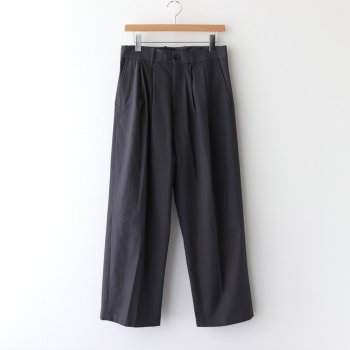 WIDE STRAIGHT TROUSERS #D.TAUPE [ST.203-1] _ stein   シュタイン