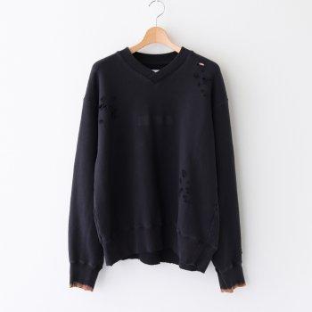 ARCHIVE V NECK SWEAT LS #BLACK [ST.190] _ stein | シュタイン