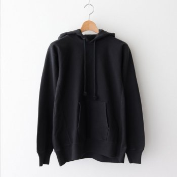 SUPER MILLED SWEAT P/O PARKA #BLACK [A20AP01SM] _ AURALEE | オーラリー