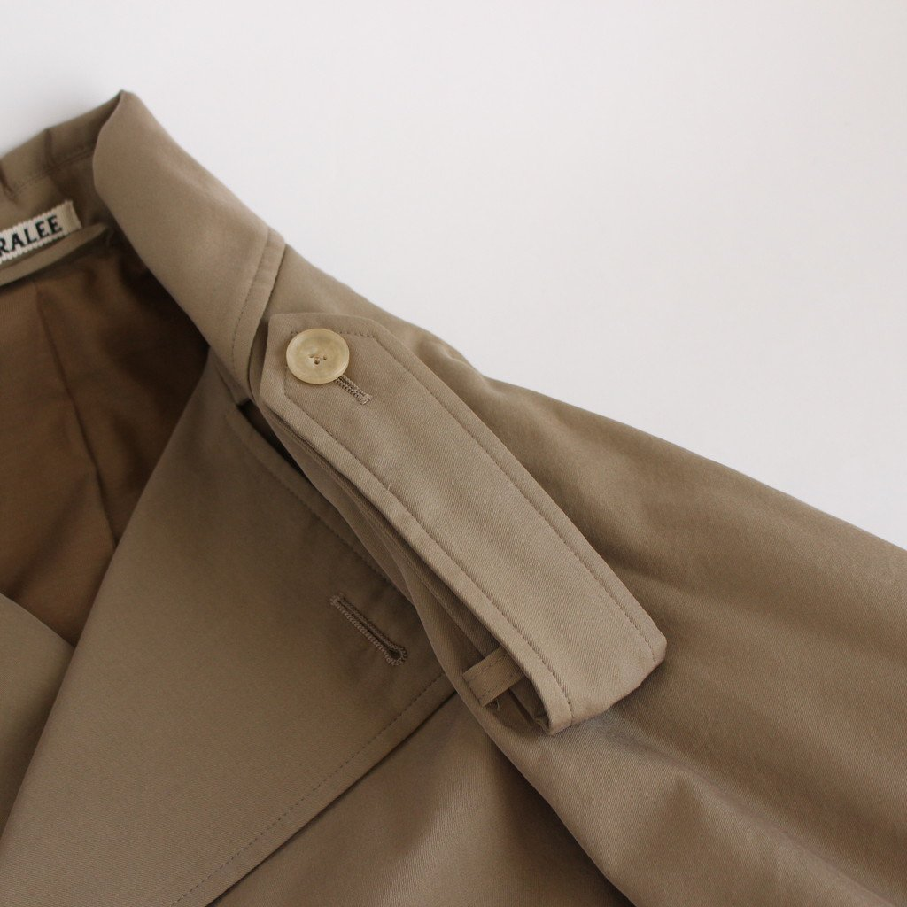 <img class='new_mark_img1' src='https://img.shop-pro.jp/img/new/icons1.gif' style='border:none;display:inline;margin:0px;padding:0px;width:auto;' />WASHED FINX CUPRO TWILL LONG COAT #KHAKI CHAMBRAY [A20AC02FC]