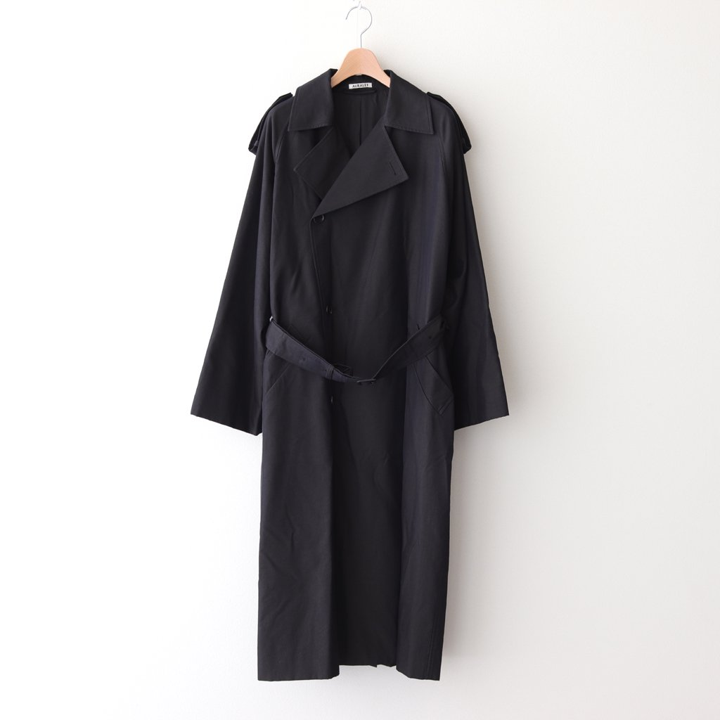 <img class='new_mark_img1' src='https://img.shop-pro.jp/img/new/icons1.gif' style='border:none;display:inline;margin:0px;padding:0px;width:auto;' />WASHED FINX CUPRO TWILL LONG COAT #BLACK CHAMBRAY [A20AC02FC]