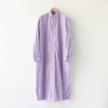 スクエアビッグロングシャツ #PURPLE LONDON ST [TBKA-156] _ TICCA | ティッカ
