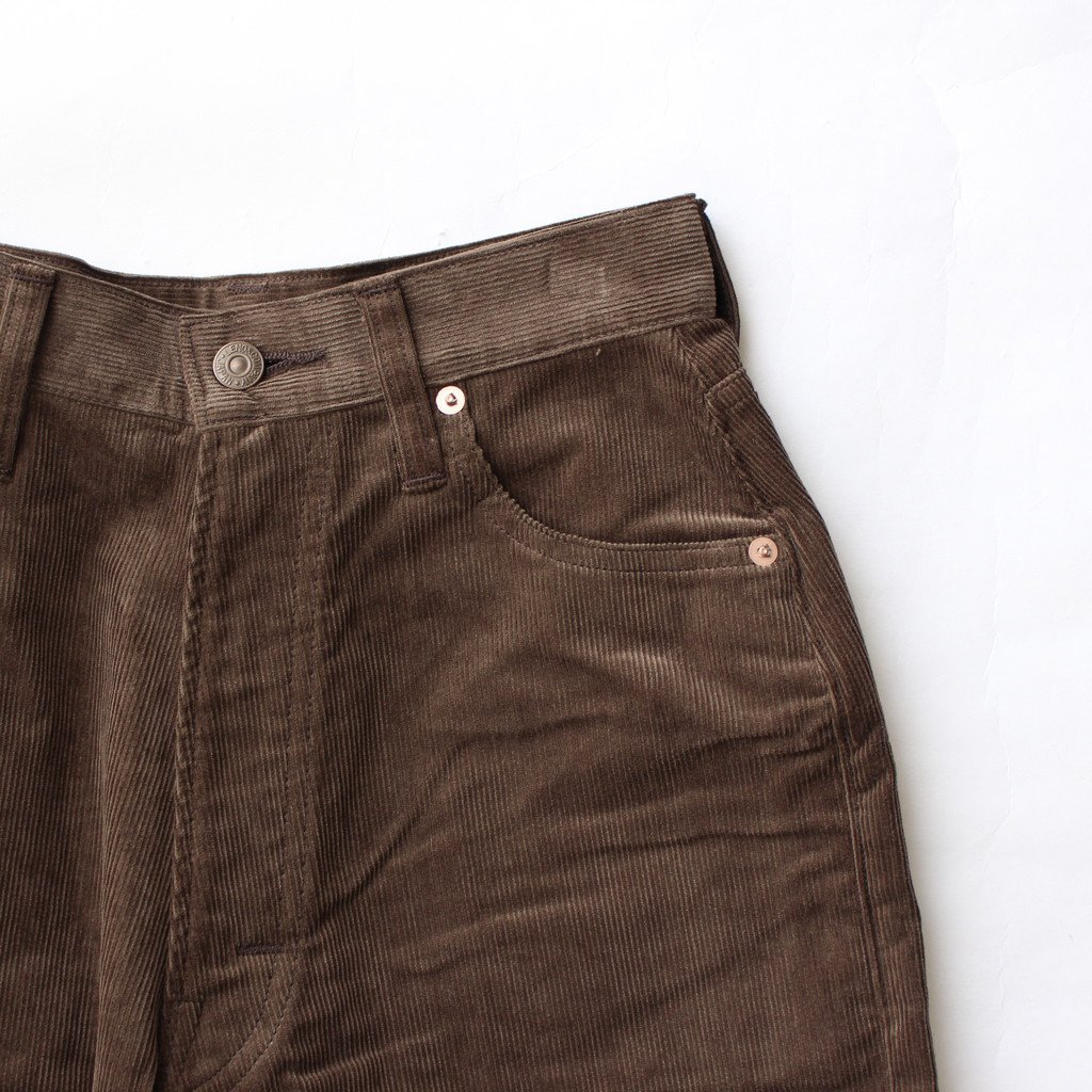 <img class='new_mark_img1' src='https://img.shop-pro.jp/img/new/icons1.gif' style='border:none;display:inline;margin:0px;padding:0px;width:auto;' />LUCY CORDUROY PANTS #BROWN [L2002-PT003]